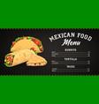 mexican food menu template takeaway meals