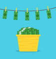 money laundering concept vector image vector image