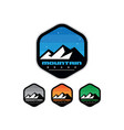 mountain badges with hexagon shape