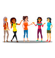 multicultural group of happy women together vector image
