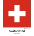 National flag of Switzerland with correct vector image