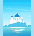 nature landscape greek with view on coast vector image vector image