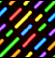 neon bright seamless pattern with diagonal lines vector image vector image
