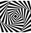 optical art abstract twisted vector image