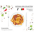 portuguese cuisine european national dish vector image vector image