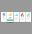 protein food nutrition onboarding elements icons vector image vector image