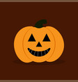 pumkin on the durk background vector image vector image