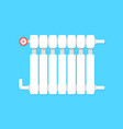 radiator icon with temperature regulation vector image
