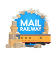 railway mail delivery post office logistics vector image vector image