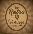 Retro and Vintage background design vector image vector image