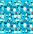 robotics tile pattern vector image