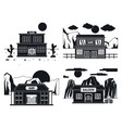 saloon wild west banner concept set simple style vector image vector image