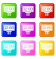 scoreboard icons 9 set vector image vector image