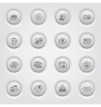 Security and Protection Icons Set Button Design vector image vector image