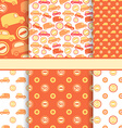 Set of seamless toy cars patterns - orange pattern vector image