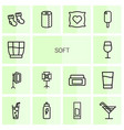 soft icons vector image vector image