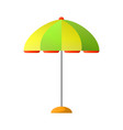 summer umbrella to create shade in hot day vector image