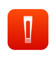 toothpaste tube icon digital red vector image vector image