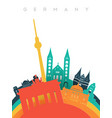 travel germany 3d paper cut world landmarks vector image vector image