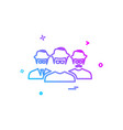 user group icon design vector image vector image
