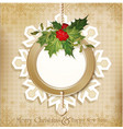 vintage retro christmas background vector image