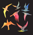 watercolor set bird vector image