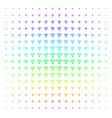 wi-fi source shape halftone spectral grid vector image vector image