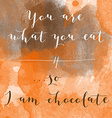 You are what you eat so I am chocolate motivation vector image vector image