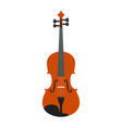 isolated wooden violin vector image