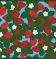 seamless pattern of strawberries vector image