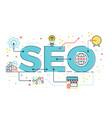 seo search engine optimization vector image