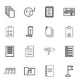 16 note icons vector image vector image