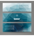a set modern banners with polygonal vector image