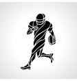 Abstract american football player silhouette vector image vector image