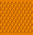 abstract geometric background with cubes in yellow vector image vector image