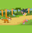 aesops fable the fox and the crow vector image vector image