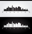 asuncion skyline and landmarks silhouette vector image vector image