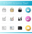 babysitting services icons set bag with items vector image