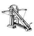 ballista medieval weapon engraving vector image