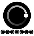black and white preolader buffer shape symbol vector image vector image