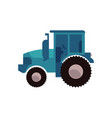blue agricultural tractor for work on plantation vector image