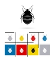 Bug icon vector image