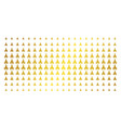 christian church gold halftone pattern vector image