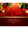 christmas background with text space vector image vector image