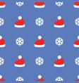 christmas santa claus hat art seamless pattern vector image