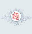 christmas snow banner vector image vector image