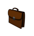 color sketch briefcase vector image