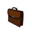 color sketch briefcase vector image vector image