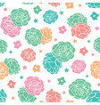 colorful rose garden ditsy floral with stars vector image