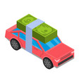 credit money car icon isometric style vector image